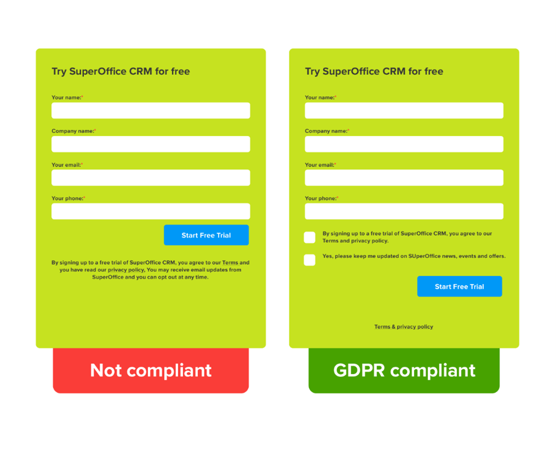 GDPR compliant form